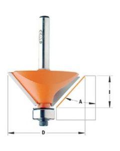 CMT Afschuinfrees 30° 38,5mm met lager