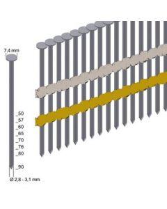 RK-nagels 21° 2.8x65 Glad/Blank (3.000st.)