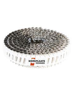 Nail screws op rol 2.8x30 RVS Plastic gebonden 15° Tx15 (jobbox 1200)