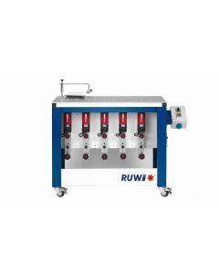 RUWI Type L basis 5 Onderfreesmachine met 5 aandrijvingen, tafel 1070 x 500 met transportwielen