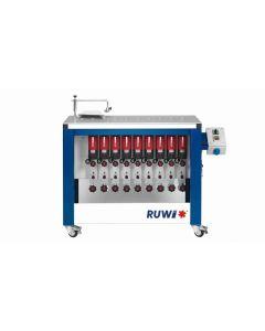 RUWI Type L basis 9 Onderfreesmachine met 9 aandrijving, tafel 1070 x 500 met transportwielen